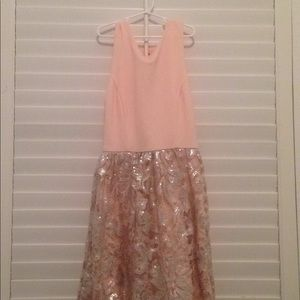 Dresses & Skirts - Pink & Silver Sequin Lace Dress